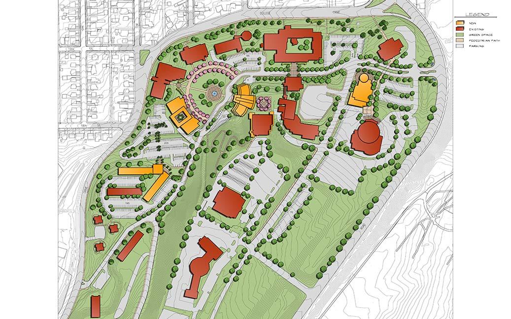 "Casper College Map Casper College Master Plan ""Refresh"" – GSG Architecture Casper College Map"